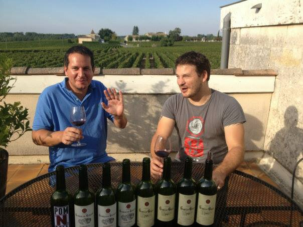 With Olivier Techer, in Gombaude-Guillot, Pomerol